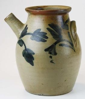 mid 19th c Pennsylvania stoneware batter jug