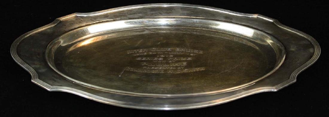 Gorham sterling silver serving platter yacht club