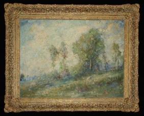 French School Circa 1900 Impressionist Landscape