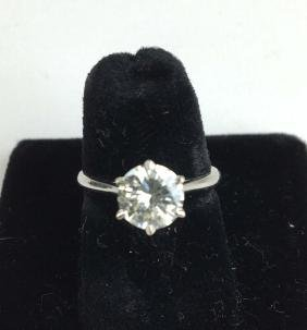 Ladies 14k White Gold 1.45 Ct Dimaond Engagement Ring.