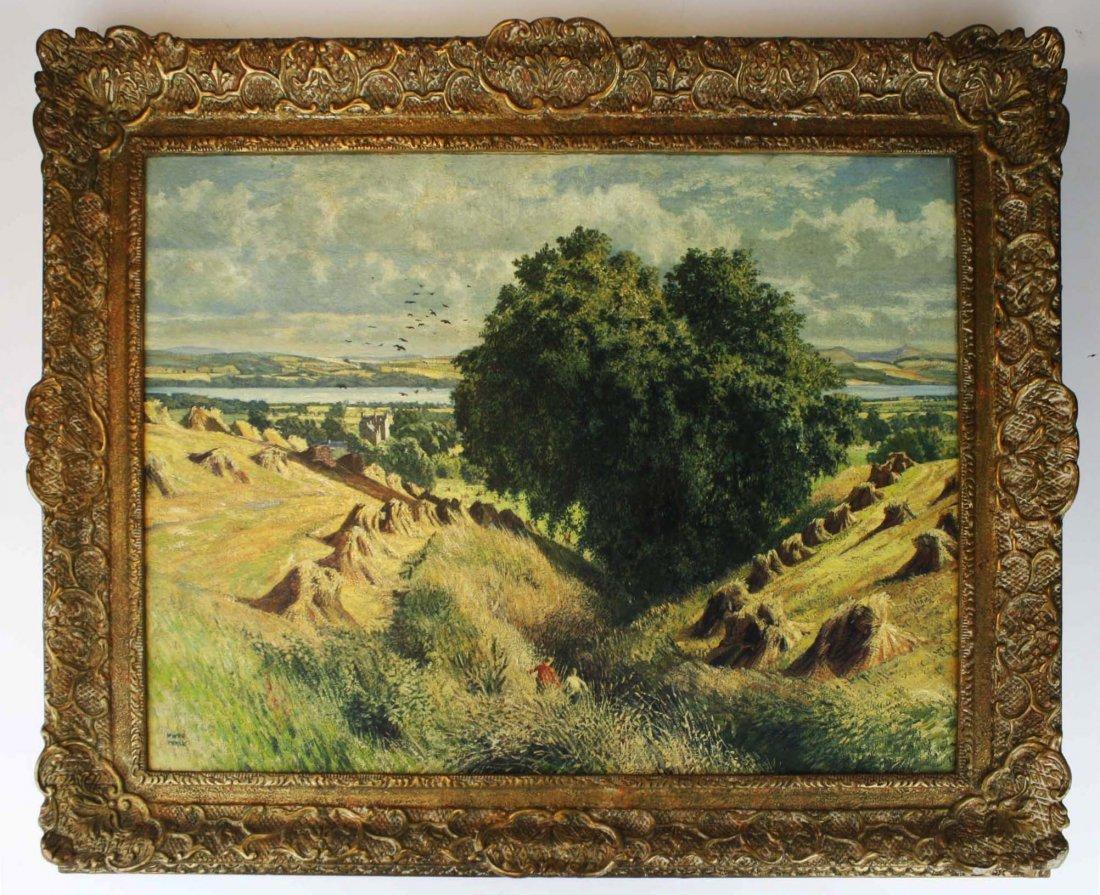 James McIntosh Patrick (UK 1907-1998) Harvest Lanscape