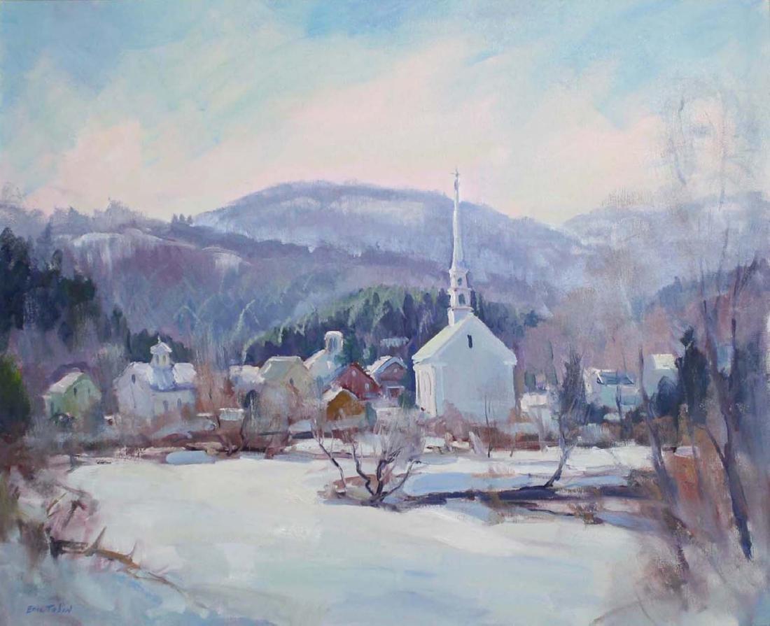 Eric Tobin (Vermont 1958-)  Late Winter Stowe VT
