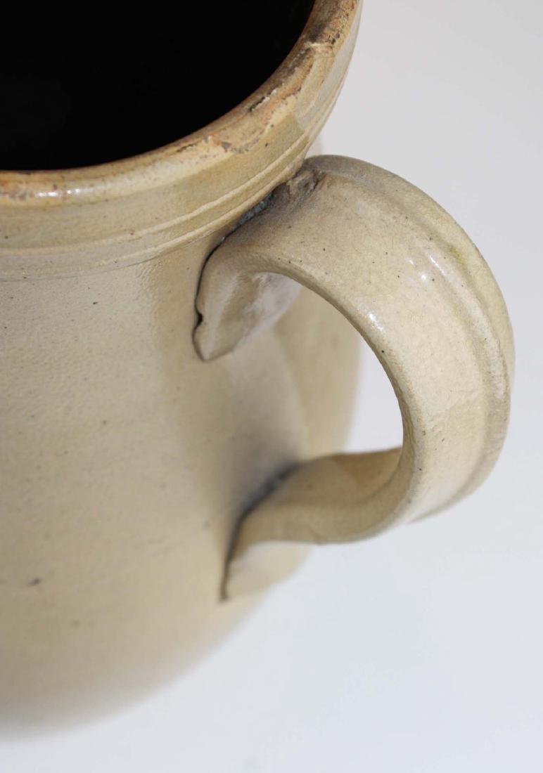19th c bird decorated stoneware pitcher - 6