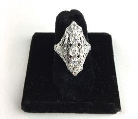 Edwardian platinum and diamond cocktail ring.