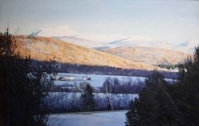 Jeanette Chupack (Vermont 20th C) Camel's Hump from the