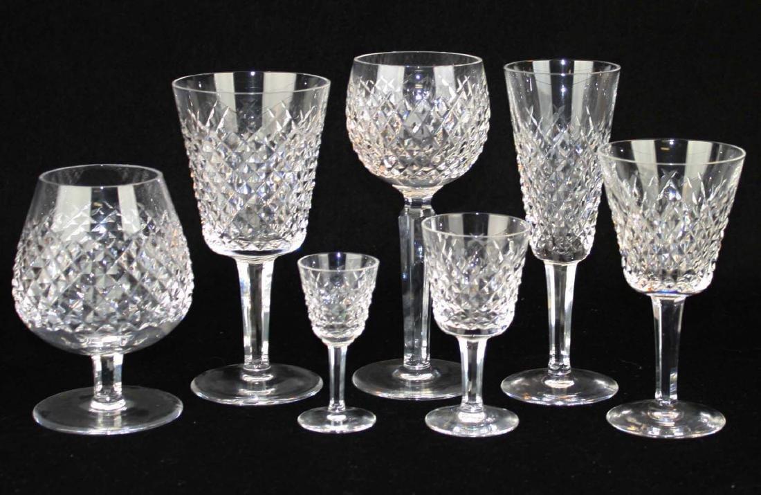 64 pcs Waterford Alana cut Irish crystal stemware