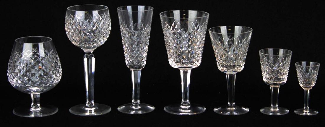 64 pcs Waterford Alana cut Irish crystal stemware - 2