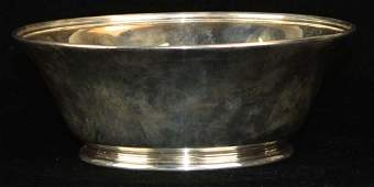 Tiffany  Co American sterling silver footed bowl