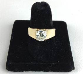 14k yellow gold ladies 1.33 ct solitare diamond ring.