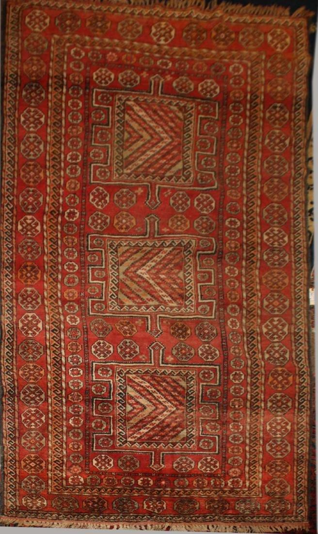 early- mid 20th c Persian 3 medallion main carpet