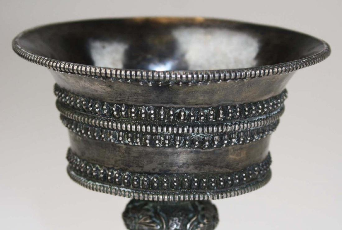 fine 18th or 19th c. Tibetan or Nepalese  silver butter - 5