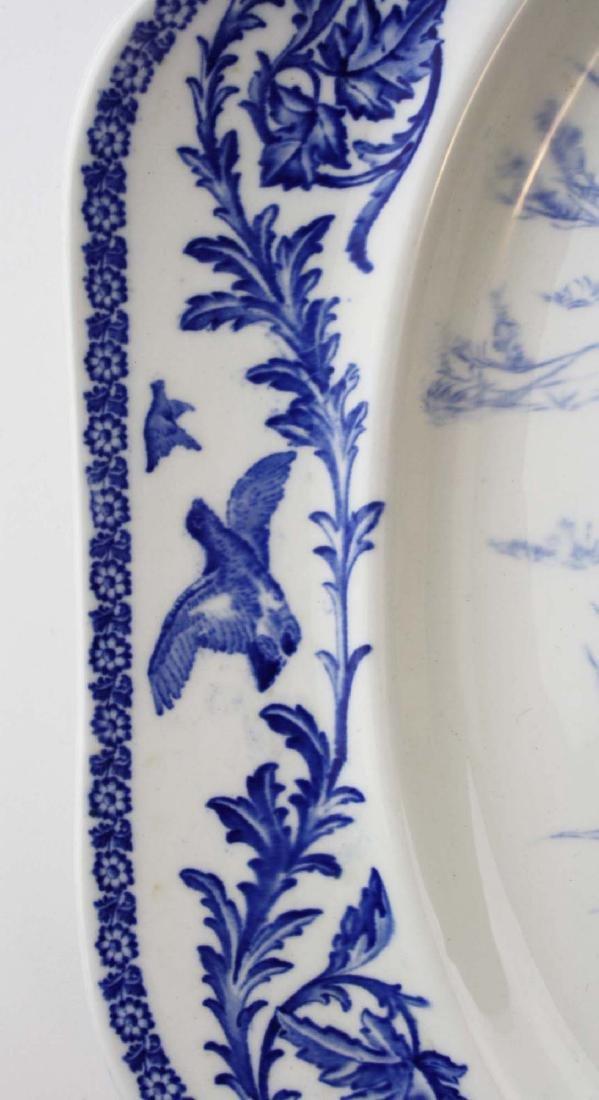 Massive Royal Cauldon England flow blue turkey platter - 3