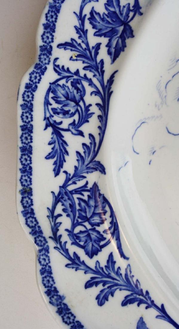 Massive Royal Cauldon England flow blue turkey platter - 4