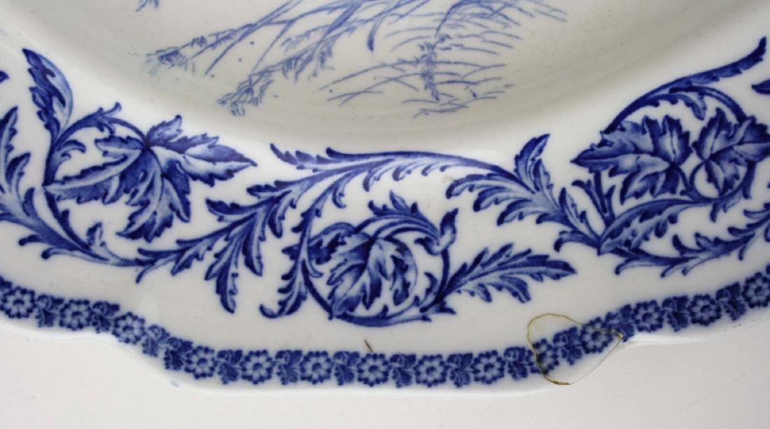 Massive Royal Cauldon England flow blue turkey platter - 5