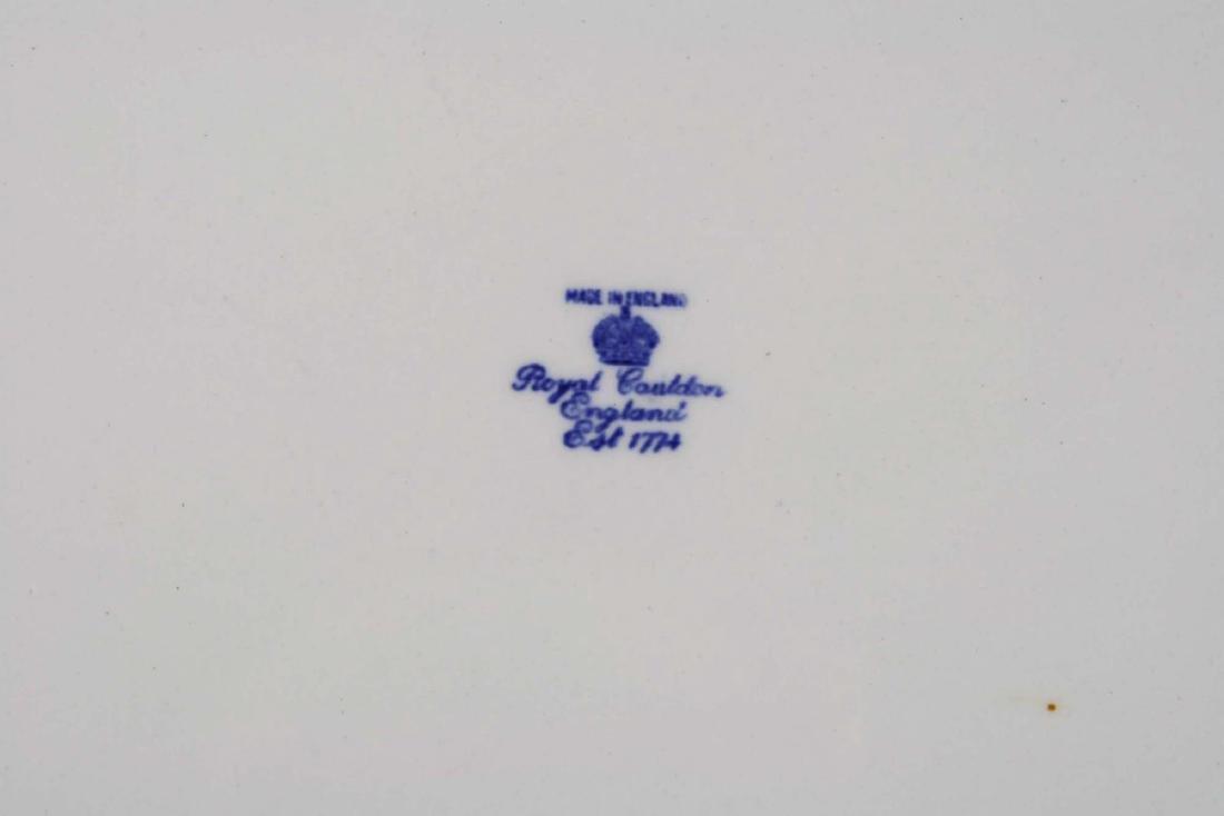 Massive Royal Cauldon England flow blue turkey platter - 6