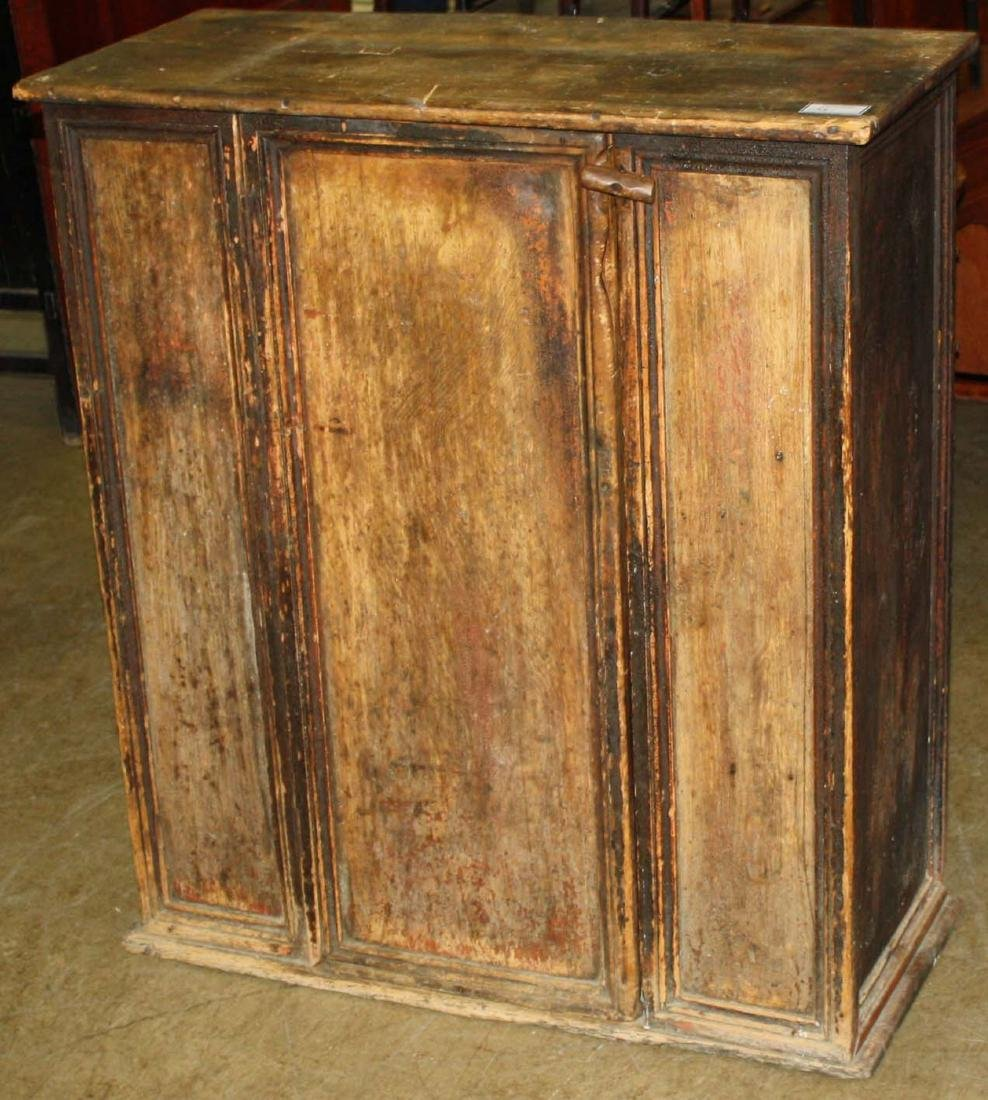 Early 19th c Quebec one door wall cupbord