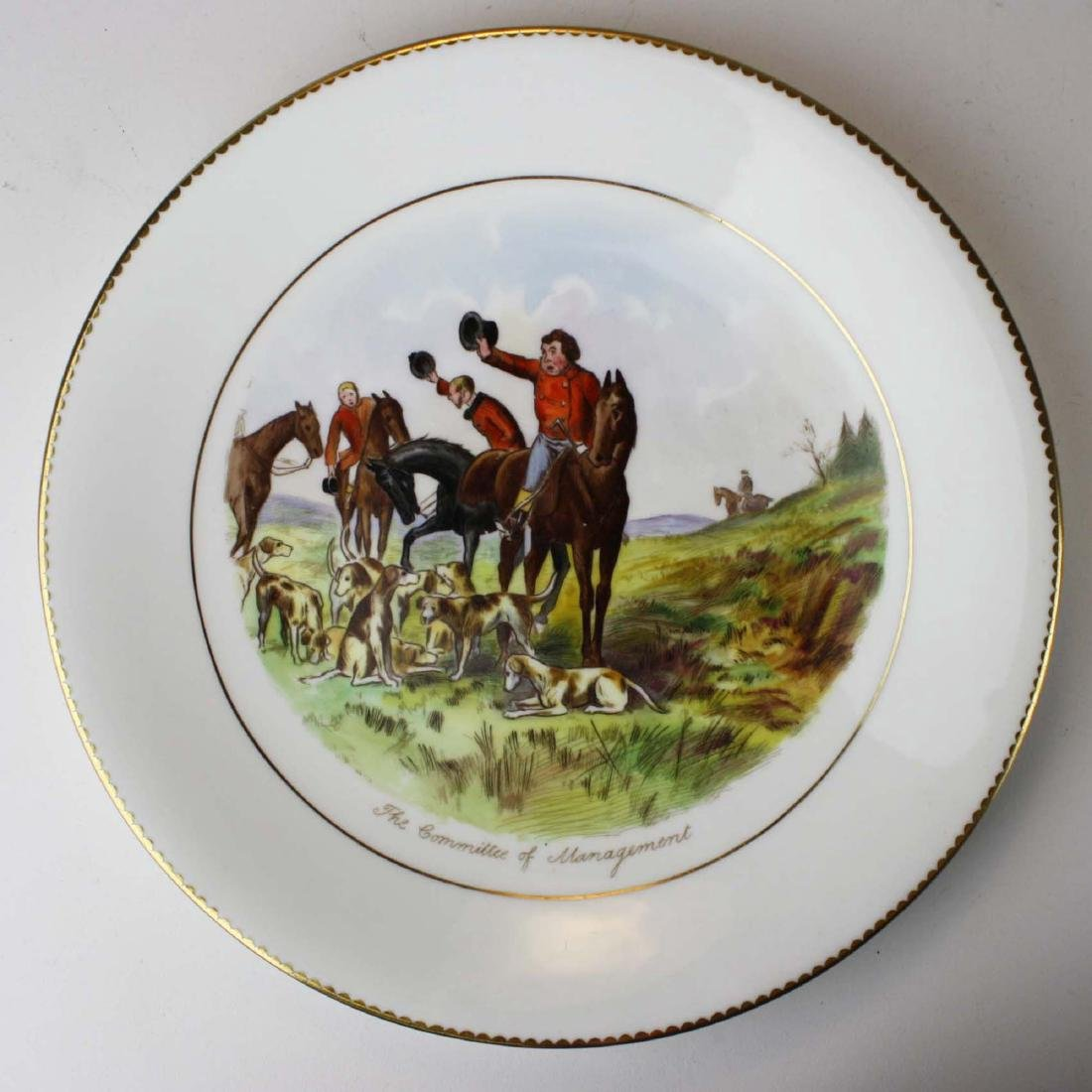 9 Wedgwood porcelain plates with English Equestrian - 10