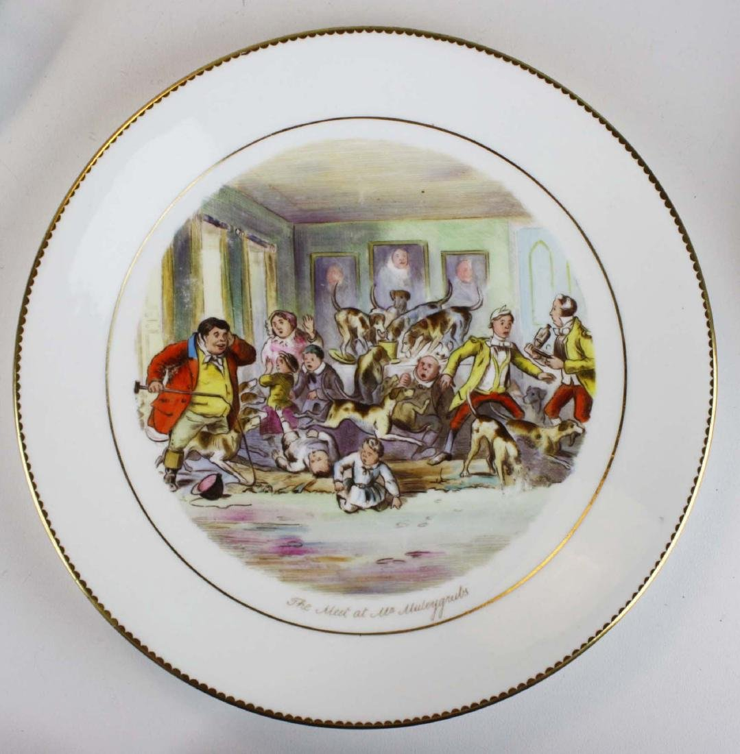 9 Wedgwood porcelain plates with English Equestrian - 3