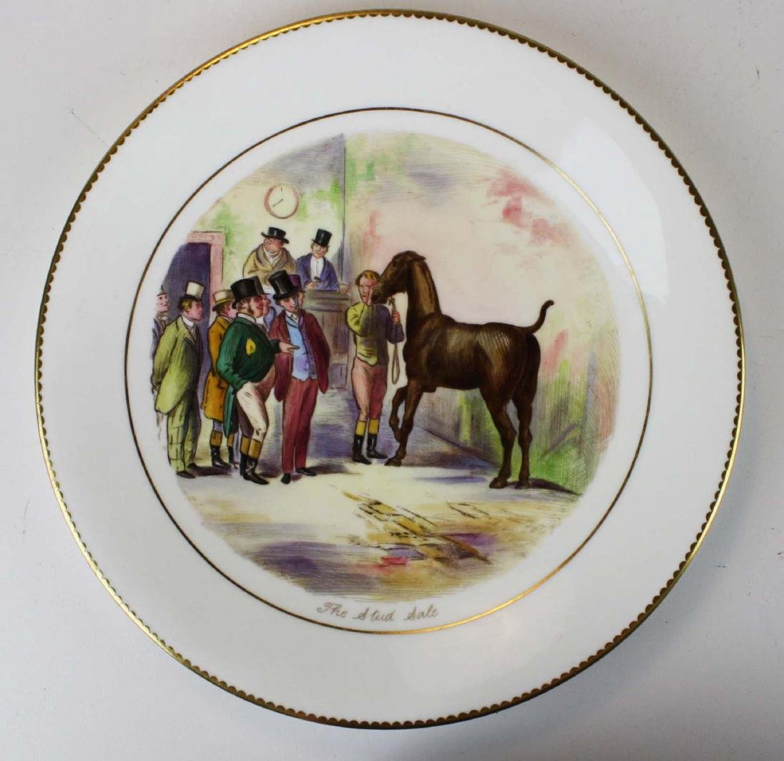 9 Wedgwood porcelain plates with English Equestrian - 4