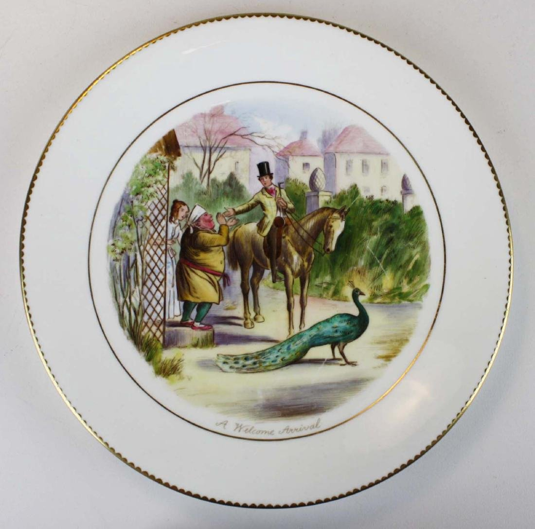 9 Wedgwood porcelain plates with English Equestrian - 5