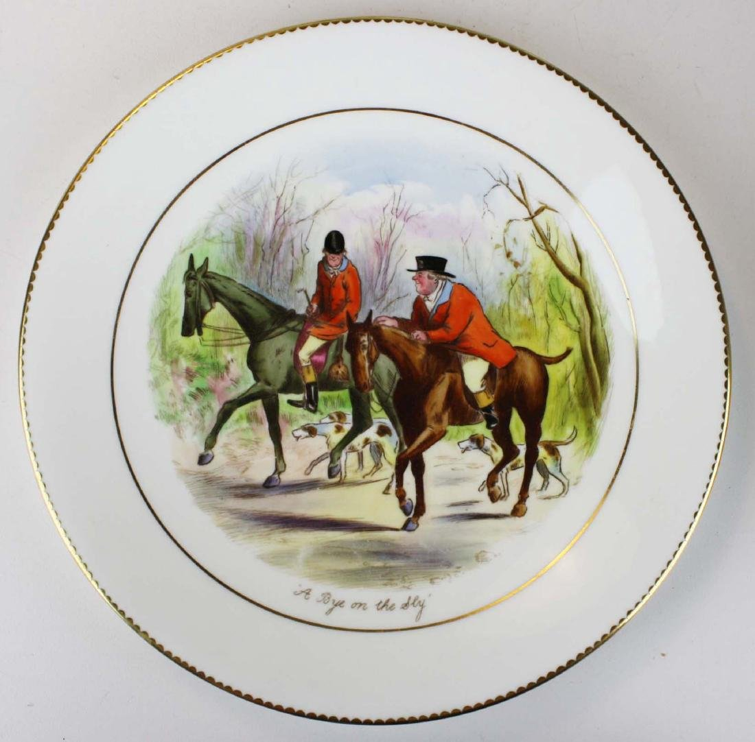 9 Wedgwood porcelain plates with English Equestrian - 6