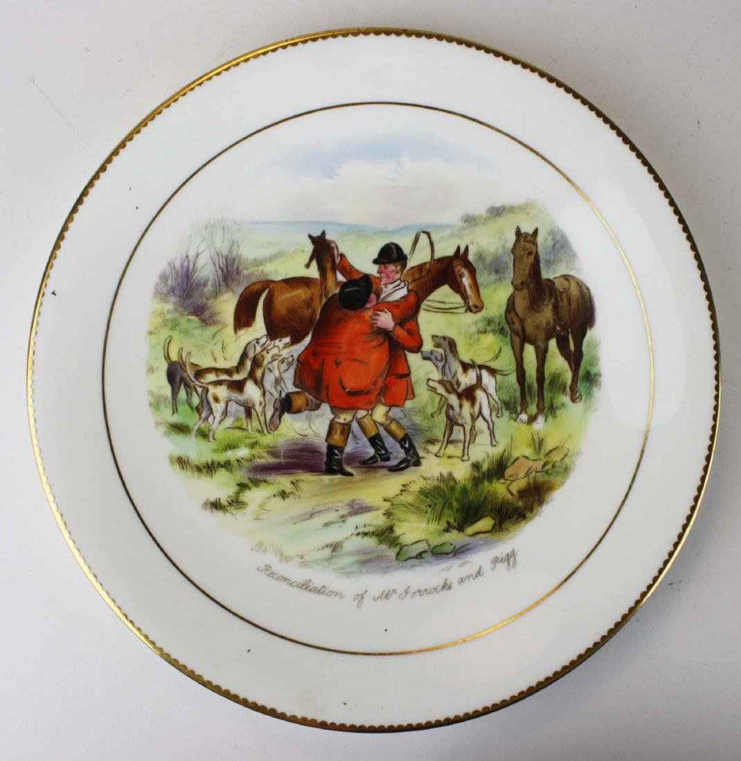 9 Wedgwood porcelain plates with English Equestrian - 7