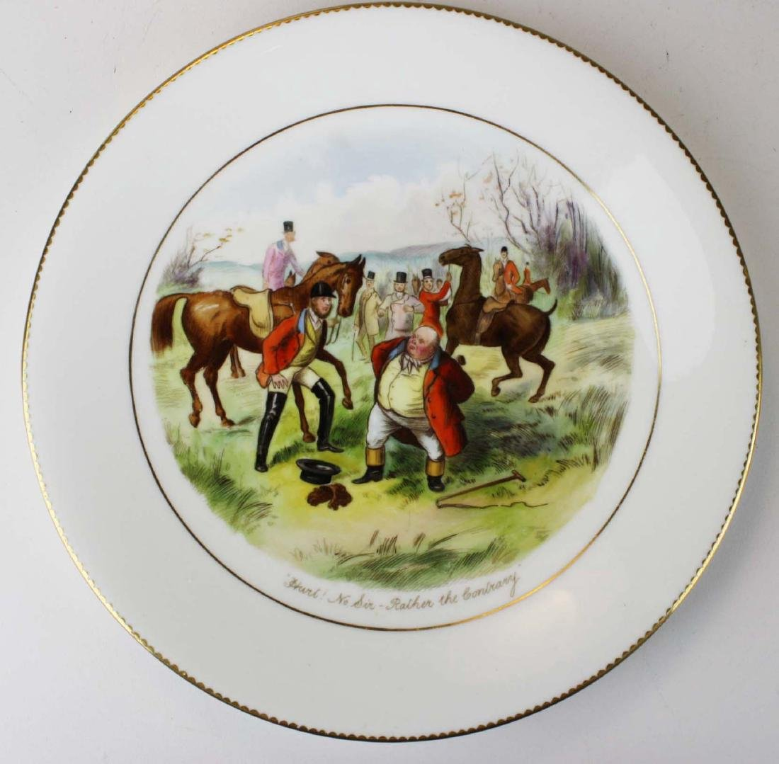 9 Wedgwood porcelain plates with English Equestrian - 8
