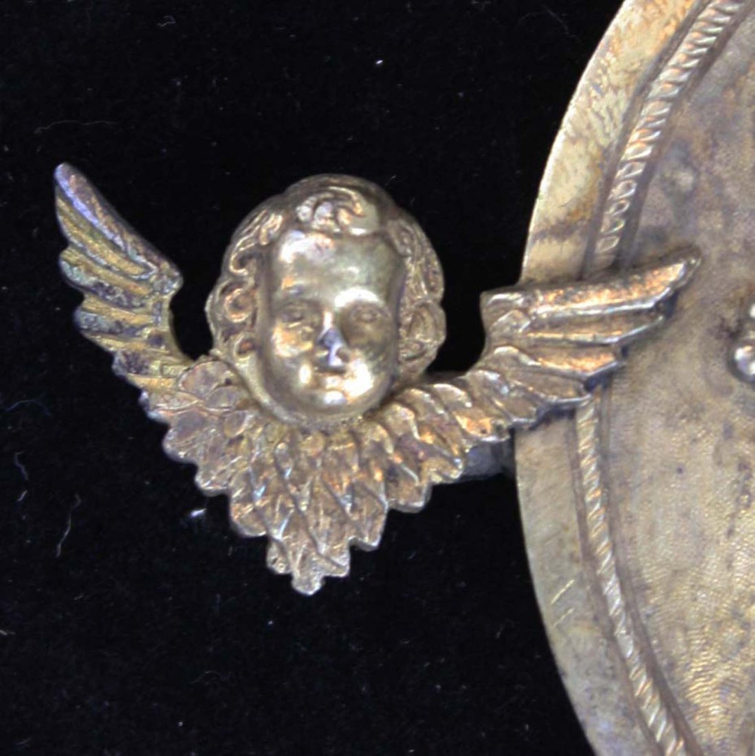 1867 Russian Gilt Silver double disc belt buckle - 3