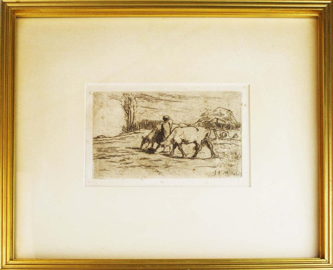 Jean Francois Millet (French 1814-1875) Two Cows - 2