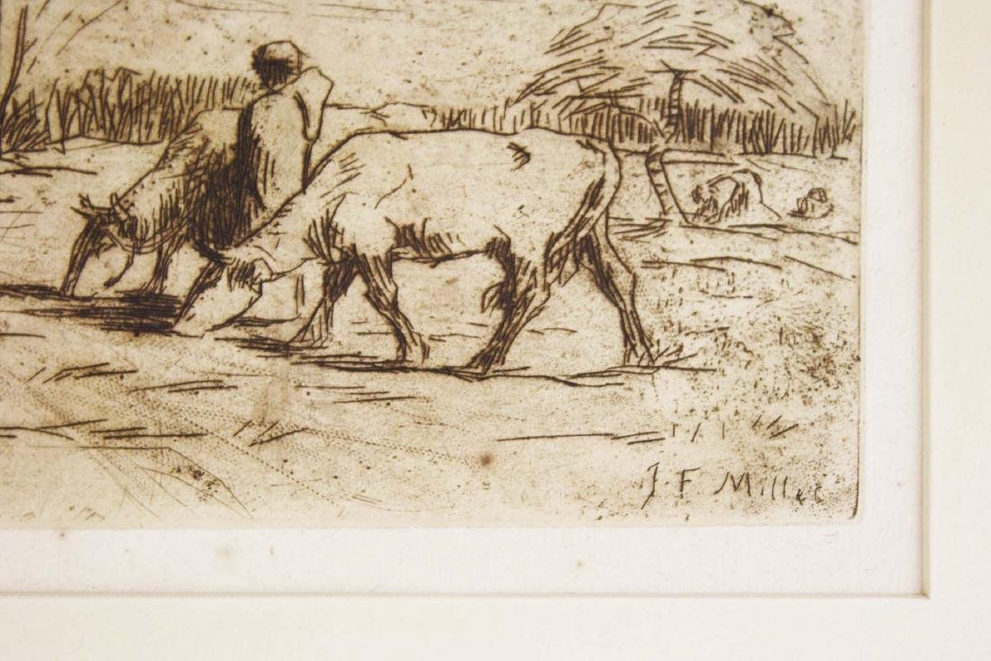 Jean Francois Millet (French 1814-1875) Two Cows - 3