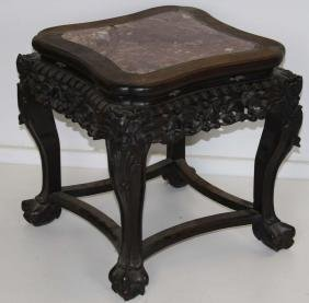 Chinese marble top low stand