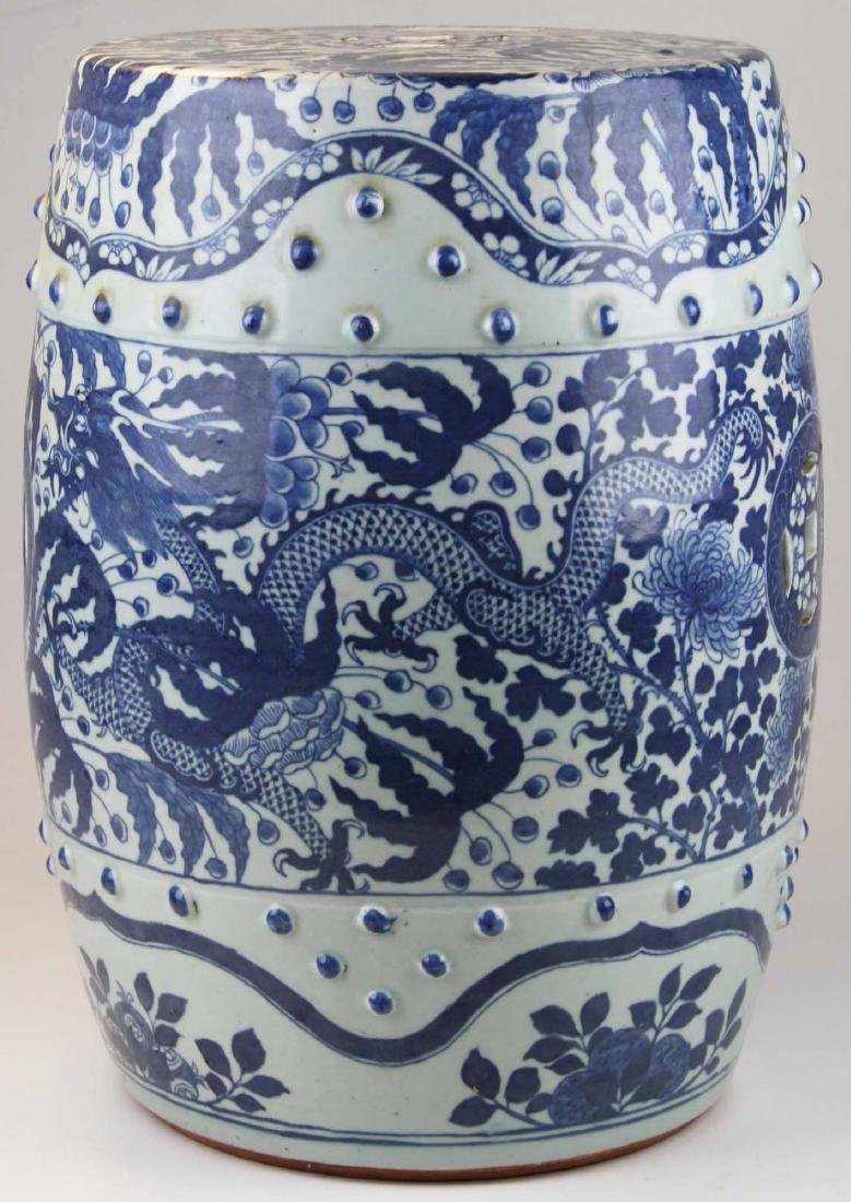 Chinese blue and white dragon decorated porcelain - 2
