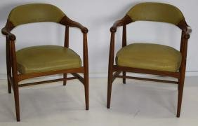Pair of Johnson Chair Co arm chairs.