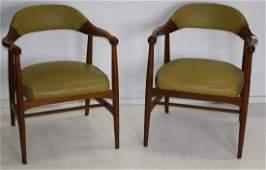 Pair of Johnson Chair Co arm chairs