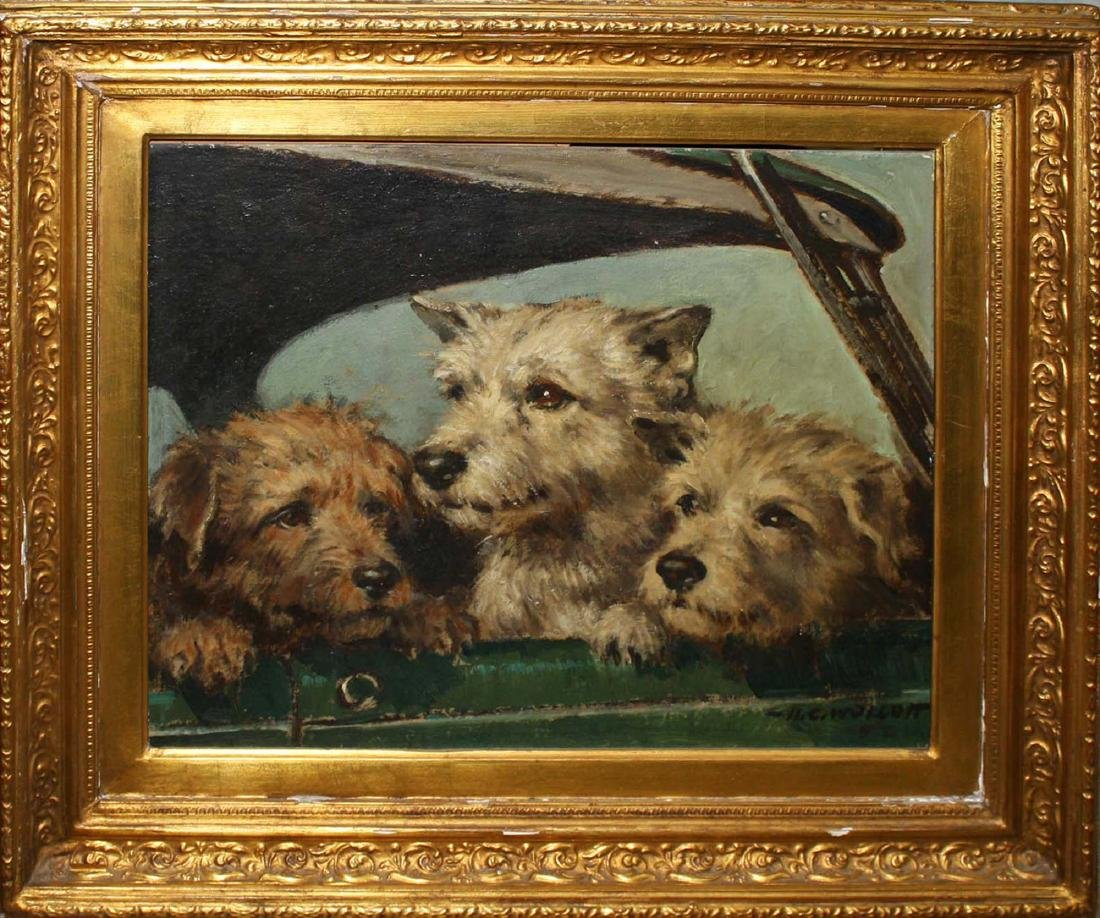 Harold C. Wollcott (American 1898-1977) Three Terriers