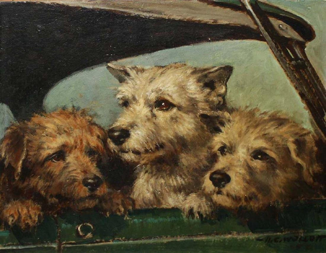 Harold C. Wollcott (American 1898-1977) Three Terriers - 2