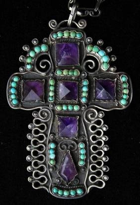 Gustavo Martinez sterling silver reticulated cross