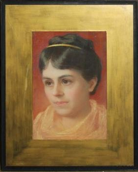 Boston school portrait of a young woman