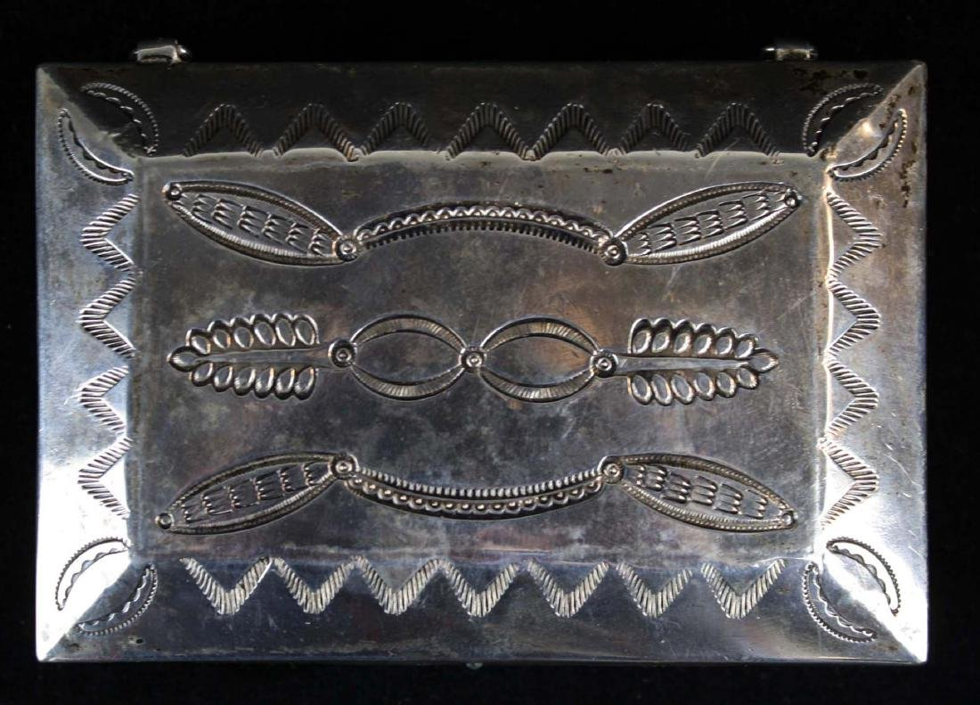 Navajo Southwest silver hand hammered desk box - 3