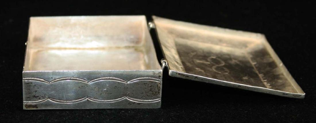 Navajo Southwest silver hand hammered desk box - 5