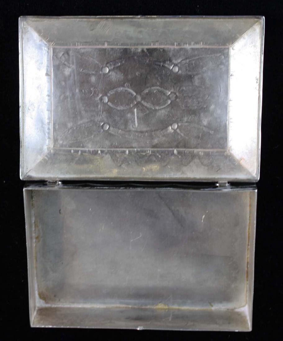 Navajo Southwest silver hand hammered desk box - 6