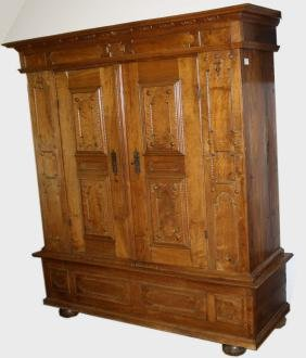19th c carved maple and pine Kaas