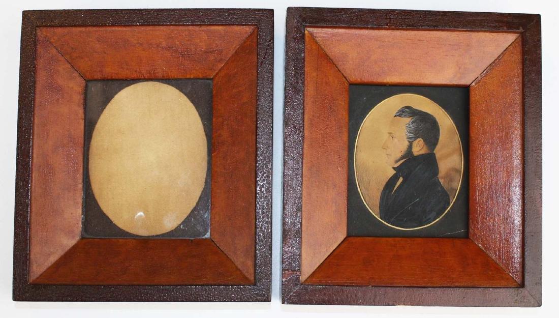 ca 1840 w/c silhouette of Jesse Orcutt (1796- 1870)