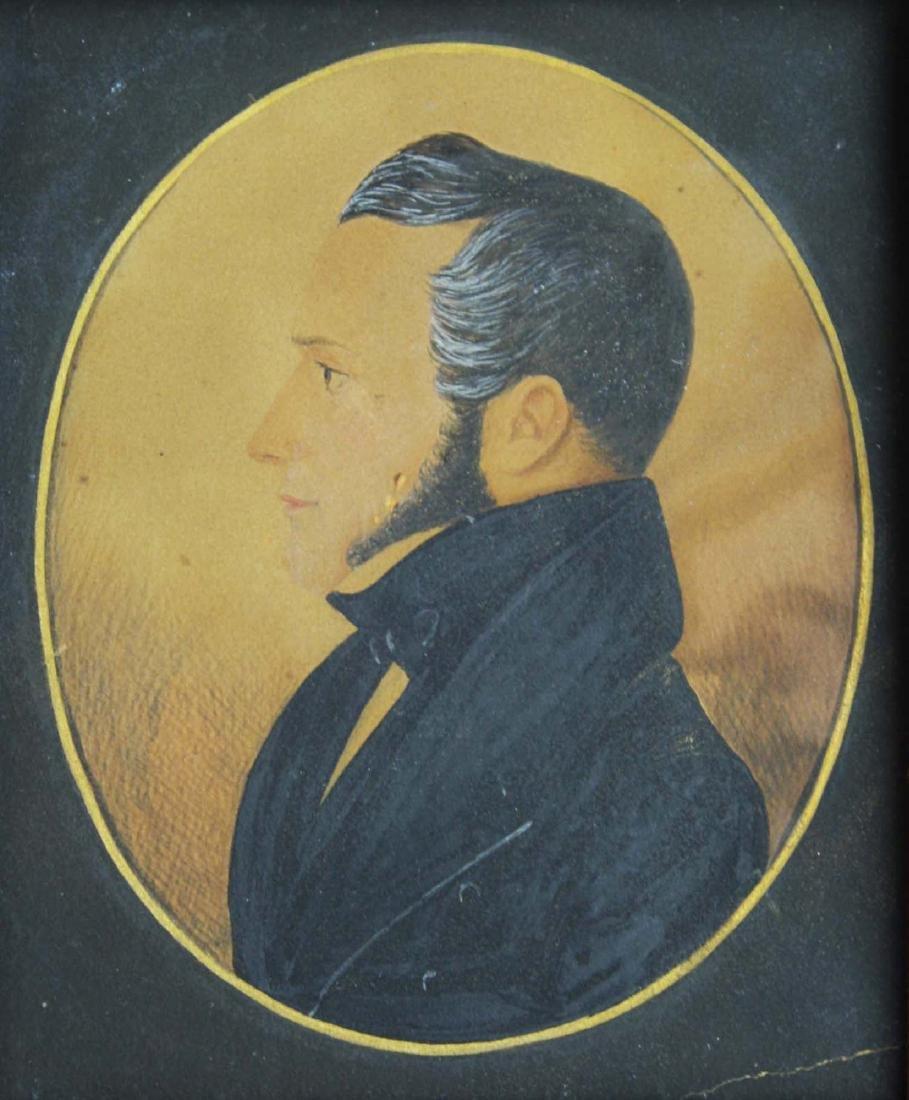 ca 1840 w/c silhouette of Jesse Orcutt (1796- 1870) - 3