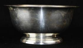 Poole sterling silver footed serving  bowl