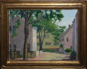 Helen Mabie (American 20th C) Main St Nantucket
