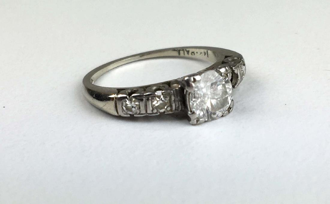 Ca. 1910 Ladies 14k white gold diamond engagement ring.