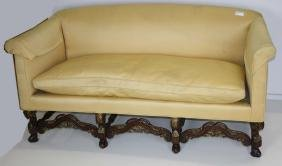 20th c yellow upholstered sofa