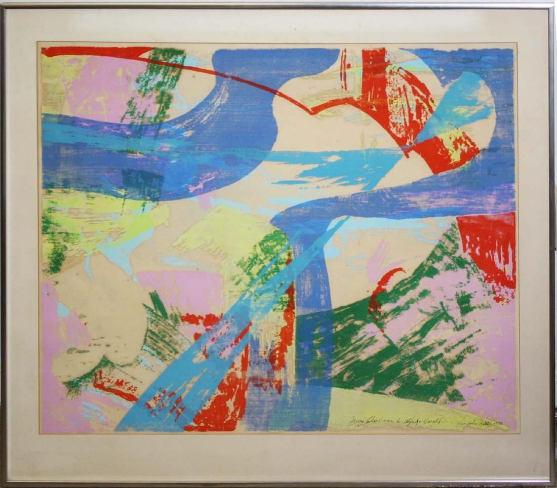 John Little (American 1907-1984) Untitled woodblock