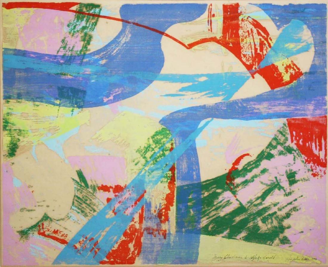 John Little (American 1907-1984) Untitled woodblock - 2
